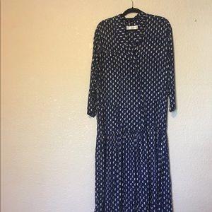 Eileen West vintage 80s 90s blue Dress medium
